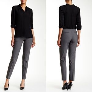 Elie Tahari Jillian slim gray wool blend pants 6